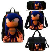 Sonic the Hedgehog Kids Backpack Suicide Squad Insulated Lunch Bag Pen Case Lot