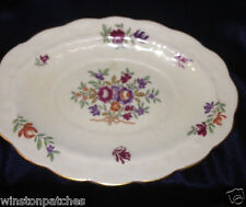 "BOOTHS CHINA ENGLAND LOWESTOFT UNDER PLATE 8 1/4"" GOLD TRIM PURPLE FLORAL SPRAYS"