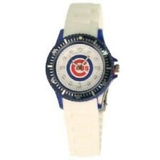 Chicago Cubs MLB Baseball Game Time Watch White Band
