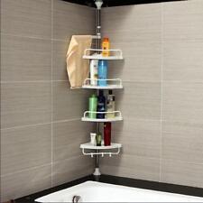 Adjustable Stainless Plastic Corner Rack Home Storage Shower Holder Rack Caddy
