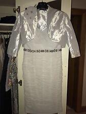 Ian Stuart Vestido y chaqueta ISL630 Madre De Novia Novio Gris frío UK Size 10