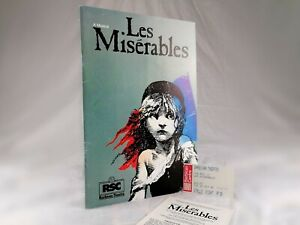 Original 1985 Les Miserables Programme - RSC Barbican Theatre, London + Ticket