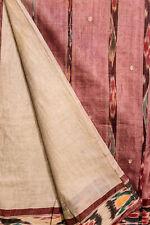 Vintage Indian Pure Tussar Silk Saree Hand Woven Sari Patola Textile Sarong