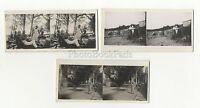 Fouras-Charente-Maritime 3 Fotos Aficionado Estéreo Vintage Analógica 1935