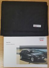 GENUINE AUDI A3 HANDBOOK OWNERS MANUAL WALLET 2005-2008 PACK E-333