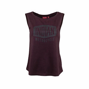 INDIAN OEM WOMEN SHIELD LOGO MUSCLE TANK TOP, PORT P/N 2869710