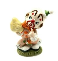 Vtg Ceramic Lefton Clown with a Ice Cream Cone Decorative Figurine Number 02356