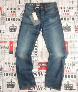 NEW mens W27 L31 G-STAR RAW '3301 Straight' Jeans Dark Aged Blue Denim 51002