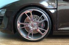 1:18 Tuning Audi R8 Spyder V10 Teakbraun ABT BR Echtalu Felgen OVP