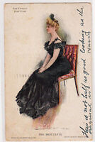 Howard Chandler HC Christy Postcard The Debutante Artist Signed Private Mailing
