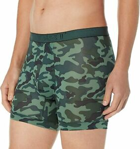 2(X)IST Mens 47704 Army Green Camouflage Camo Boxer Hipster Trunk Large UK 34-36