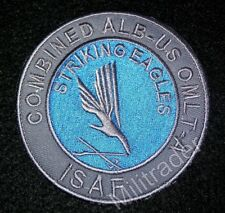 Combined Albanian-US Special Forces ISAF Sleeve Patch (Striking Eagles)