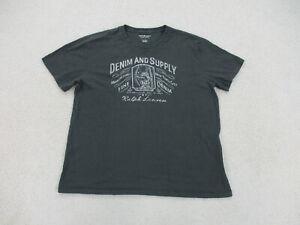 Ralph Lauren Shirt Adult Extra Large Gray White Denim & Supply Casual Men A15