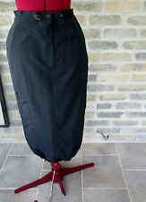 Mid-calf Straight Skirt by L'OFFICIEL Sz 10  100% nylon Casual/ Sporty  Canadian