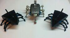 Lot of 3 MGA Insecto Bot Battery Operated Interactive Bugs Radio Shack FOR PARTS