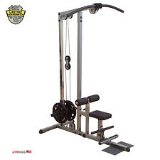 2017 NEW Body-Solid GLM83 Plate Loaded Lat Machine incl. Low Row plate