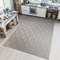 TAPISO Dark Beige Sisal Like Modern Rug Floor Mat for Kitchen Patio Mat 6mm Pile