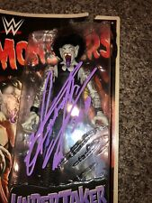 WWE WWF Undertaker Autographed Monsters Action  Figure  SUPER RARE