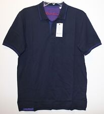 Robert Graham Mens Navy Blue Cotton Classic Fit Polo Shirt NWT $98 Size S