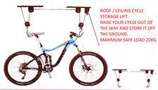 CEILING BIKE STORAGE LIFT HANG CYCLE BICYCLE GARAGE MOUNTED PULLEY RACK HOIST