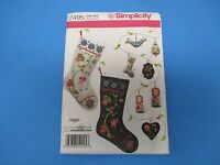 Vintage Sewing Pattern Simplicity 2495 One Size 8 Ps. Christmas Decorations S675
