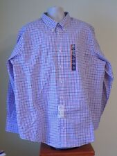 NWT Men's Craft & Barrow White With Stripes Long Sleeve Button Shirt Sz 19-36/7B