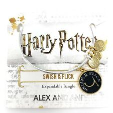 Alex And Ani Swish & Flick Harry Potter Charm Bangle Expandable Bracelet w/ Box