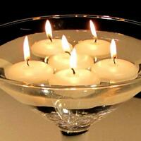 4cm Ivory Floating Candle Room Table Centrepiece Pool Bath 4hr burn BUY QTY RQED