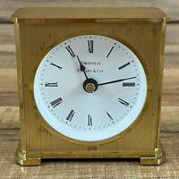 Tiffany & Co Portfolio Desk Mantle Table Clock Brass Quartz 2100 Germany