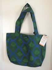NWT! GLOBAL MAMAS Cotton BATIK Tote Bag Green Blue HANDMADE Ghana FAIR TRADE
