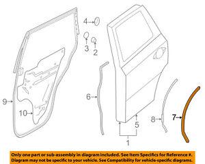 Infiniti NISSAN OEM 14-17 QX60 Rear Door-Rear Seal Left 828393JA0C