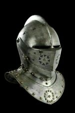 Medieval Helmet Knight Tournament Close Armor Helmet Replica 18GA LARP Helmet S5