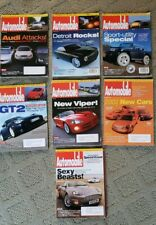 LOT OF 7 issues of AUTOMOBILE Magazine - JAN - MAY, SEPT, OCT 2001