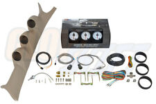 GlowShift Boost Egt Trans Temp Gauges + Tan Pod for 99-07 Ford F350 Powerstroke