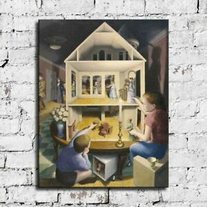"""32x24"""" Rob Gonsalves """"Doll's Dreamhouse"""" HD print on canvas large wall picture"""