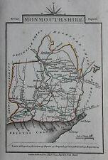 Original antique map MONMOUTHSHIRE, CHEPSTOW, ABERGAVENNY, John Cary, 1819
