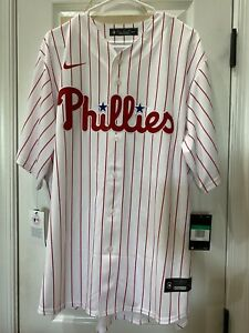 NWT Nike Men's Philadelphia Phillies Bryce Harper White Cool Base Home Jersey