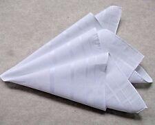 Vintage Vintage Handkerchief MENS Hankie NEW Top Pocket Square WHITE COTTON