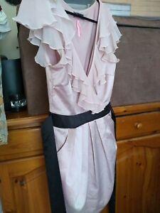 Lipsy Dress Size 8 Dusky Pink
