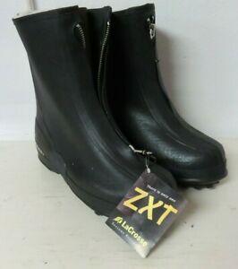 Lacrosse Mens 12 ZXT Waterproof Boots Black Rubber Cover Over Work Boots Zip Up