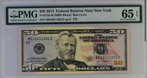 $50 2013 USA America PMG 65 Binary-Radar-Repeater-Rotator S/N Rare Solid Serial