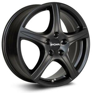"Ronal R56 17"" 5 Spoke BLACK 7J ET48 5x112 GENUINE OEM Alloy Wheel & Mount kit"