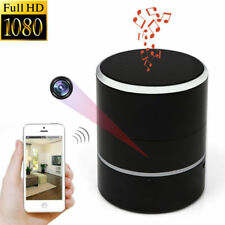 WIFI 1080P PTZ 180° HD Spy Hidden Camera Bluetooth Speakers Video Recorder Cam