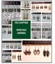 100 PAIRS!!!High Quality Dangle Earrings / Hypo Allergenic / NEW WHOLESALE LOT