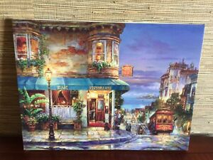 Cao Yong Hyde Street San Francisco SIGNED H/P Embellished painting Gift