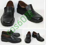 New School Uniform Shoes Leather Black Cosplay Shoes S008