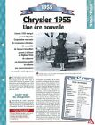 Chrysler 1955 1955 USA Car Auto FICHE FRANCE