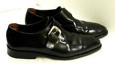 EUC To Boot New York Men's Size 9 1/2 Italian Black Leather Monk Strap Loafers