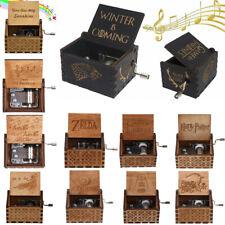 Harry Potter Star Wars Hand-cranked Gravé en Bois Boîte à Musique Music Box
