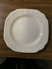 "Mottahedeh Florentine White on White Bread & Butter Plate 7"" BRAND NEW"